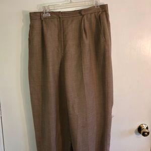Lauren wool lined beige slacks, size 12.